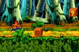 Crash Bandicoot: The Huge Adventure Game Boy Advance Starting the Jungle Jam level