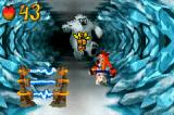 Crash Bandicoot: The Huge Adventure Game Boy Advance This is a part of the stage where you're riding a bear while you try to avoid traps and the big yeti that follows you