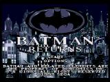Batman Returns SEGA CD Title screen
