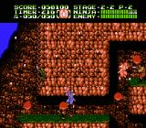 Ninja Gaiden II: The Dark Sword of Chaos NES The direction of the snow shows the wind direction that you have to fight against.