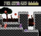 Ninja Gaiden II: The Dark Sword of Chaos NES Lightning occasionally lights everything up in level 3-1.