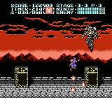 Ninja Gaiden II: The Dark Sword of Chaos NES The boss at the top of the castle