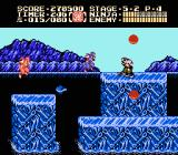 Ninja Gaiden II: The Dark Sword of Chaos NES Transitioning from fire in 5-1 to ice in level 5-2; yes, it's slippery.
