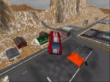 Interstate '76: Nitro Riders Windows Is it a bird? Is it a plane? No it's a Ford Mustang after a HUGE jump - fan-made-map (D3D)