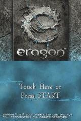 Eragon Nintendo DS Title screen.