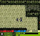 Warriors of Might and Magic Game Boy Color Fighting with the guard...