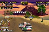 Sega Rally Championship Game Boy Advance A Toyota Corolla before the race starts