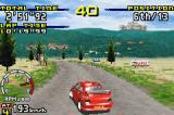 Sega Rally Championship Game Boy Advance Mitsubishi Evo in Village track
