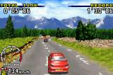Sega Rally Championship Game Boy Advance Mitsubishi Evo in Time Attack with ghost car in distance