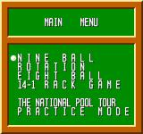 Break Time: The National Pool Tour NES Choose the type of game you want to play