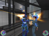 Oni Windows Konoko and her fellow TCTF agents defend the TCTF HQ from a massive Syndicate invasion