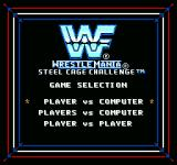 WWF Wrestlemania: Steel Cage Challenge NES Player selection