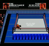 WWF Wrestlemania: Steel Cage Challenge NES Pinning your opponent.