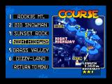 Snowboard Kids Nintendo 64 Course selection