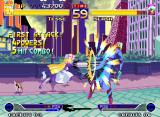 Waku Waku 7 Neo Geo Tesse accurately connecting the current 5 non-stop-damaging hits of her Chikuchiku Attack in Slash.