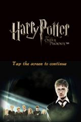 Harry Potter and the Order of the Phoenix Nintendo DS title screen