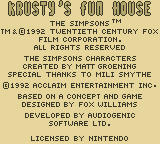Krusty's Fun House Game Boy Publisher/Developer/License Info