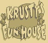 Krusty's Fun House Game Boy Title Screen
