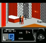 Last Ninja 2: Back with a Vengeance NES Fighting with an enemy.