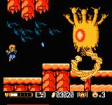 Mitsume ga Tooru NES Fighting the second boss with the Super-sonic shots
