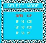 Goal! Two NES Select mode screen