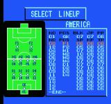 Goal! Two NES Selecting your line-up.