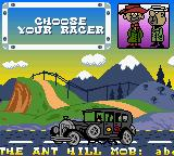 Wacky Races Game Boy Color Racer selection
