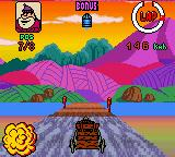 Wacky Races Game Boy Color One of your opponents has blown up, while you are still in the race as Rufus Ruffcut and Sawtooth in the Buzz Wagon 10.