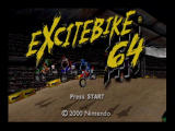 Excitebike 64 Nintendo 64 Title Screen