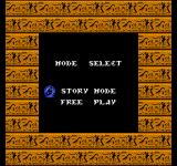 Egypt NES Game mode selection