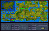 Jagged Alliance DOS The Metavira map, where you position guards and tappers, and pick your next fight.