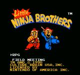 Little Ninja Brothers NES Title screen