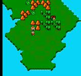 Little Ninja Brothers NES World map.