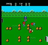 Little Ninja Brothers NES Battle screen