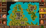 Jagged Alliance DOS The map of a sector.