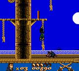 Gold and Glory: The Road to El Dorado Game Boy Color Climbing the Rope on the Ship...