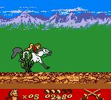 Gold and Glory: The Road to El Dorado Game Boy Color Riding a Horse...