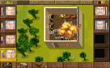 Jagged Alliance DOS Oops! A booby-trapped crate explodes...