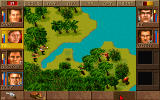 Jagged Alliance DOS Heavy fire at a lovely bay.
