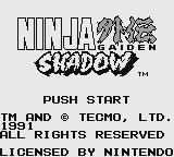 Ninja Gaiden Shadow Game Boy Title screen (U.S. release)