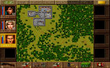 Jagged Alliance: Deadly Games DOS The mission map.