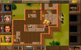 Jagged Alliance: Deadly Games DOS Clearing a building with grenades.