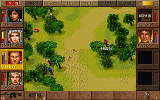 Jagged Alliance: Deadly Games DOS Tear gas grenades contaminate an area (the dotted tiles).