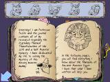 The Mummy Mystery Windows Professor Pickle's journal, filled with hints and clues.