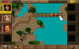 Jagged Alliance: Deadly Games DOS Bridge battle. The redshirts are easy targets.