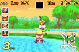 Mario Kart: Super Circuit Game Boy Advance Drive into deep water and Lakitu will pull you out at the expense of a few coins.