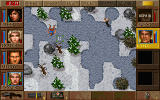 Jagged Alliance: Deadly Games DOS On ice, soldiers may slip and fall.