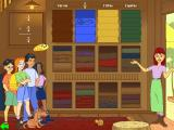 The ClueFinders 4th Grade Adventures Windows This shopkeeper needs help measuring and cutting lengths of fabric