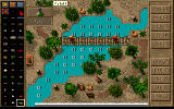 Jagged Alliance: Deadly Games DOS Mission editor: the letters mark the water depth.