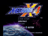 Mega Man X4 PlayStation Title Screen